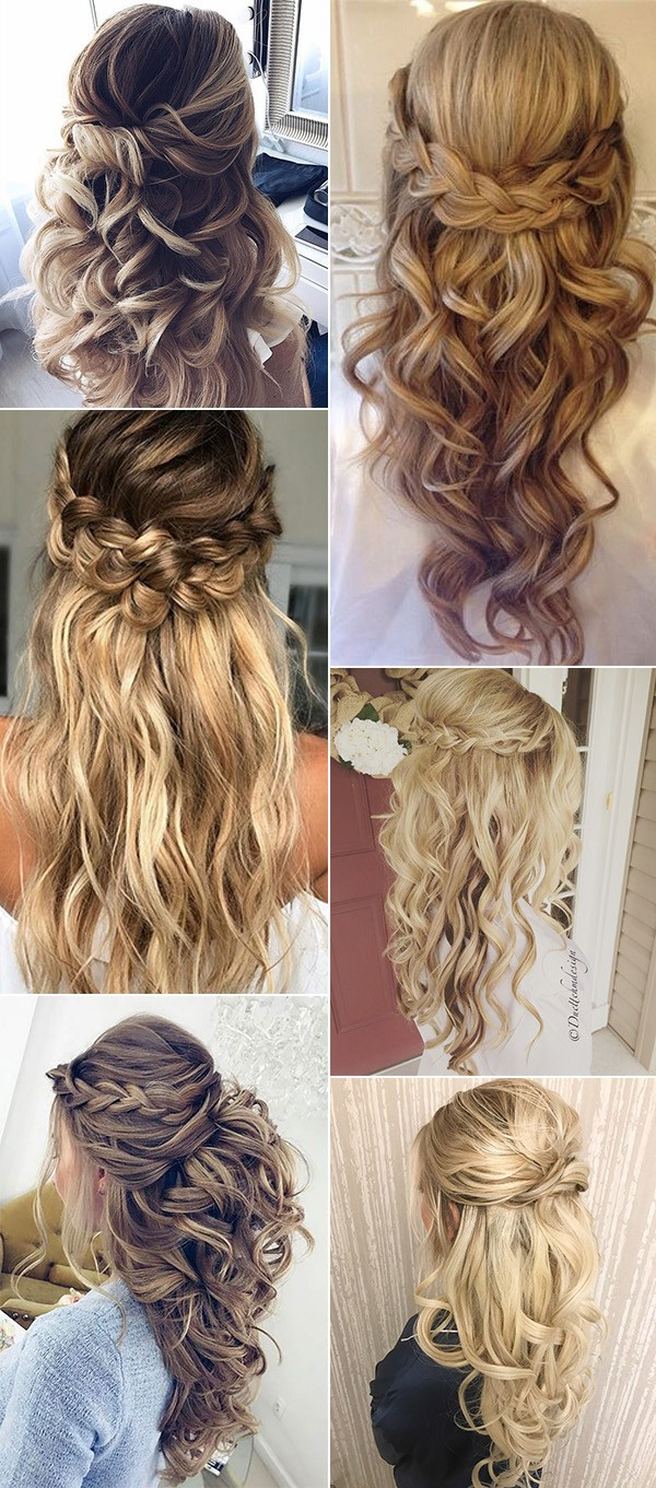 2019 trending half up half down wedding hairstyles