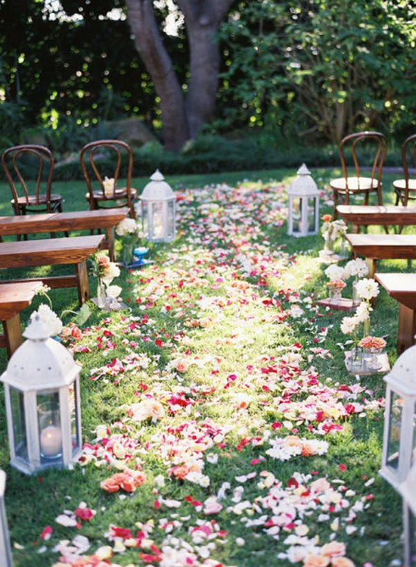 brilliant wedding aisle decoration ideas