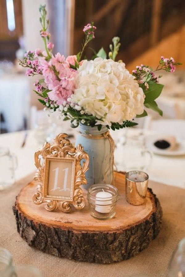 Country Rustic Wedding Centerpiece Ideas