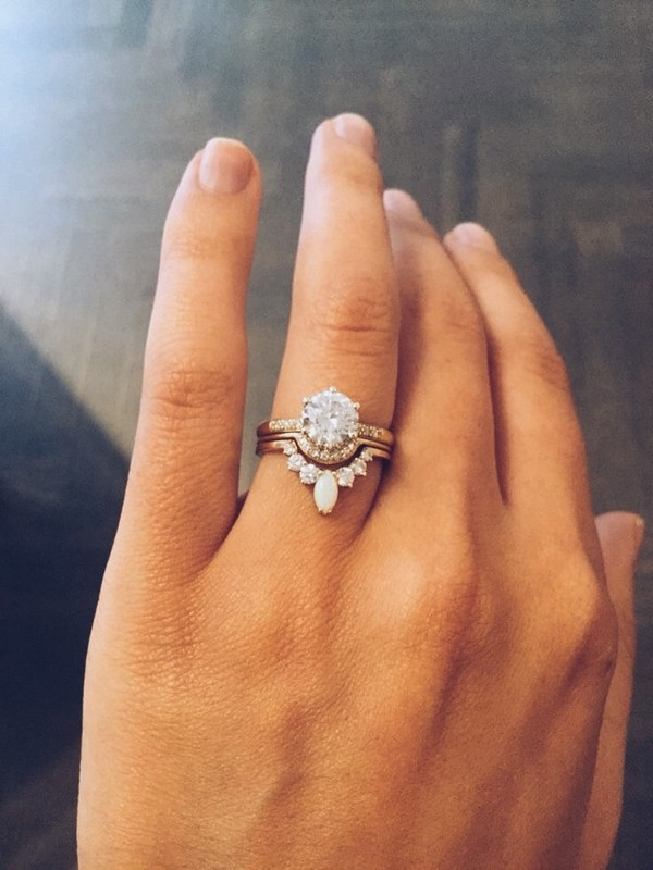 unique vintage wedding engagement ring