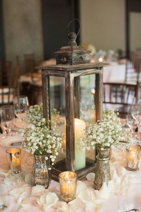 rustic wedding centerpiece ideas with lanterns