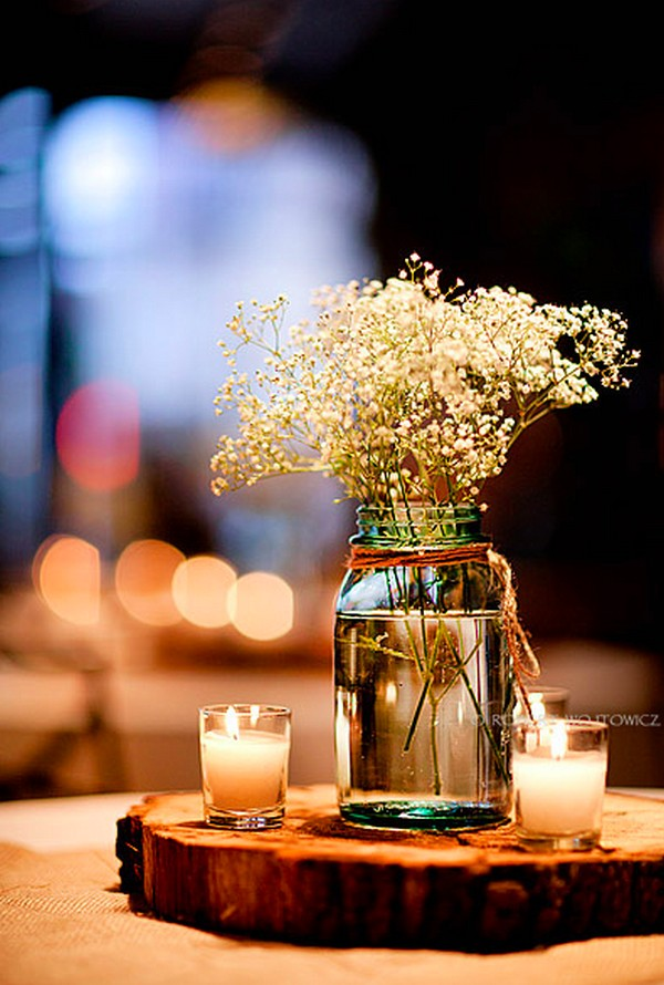 simple rustic wedding centerpiece ideas