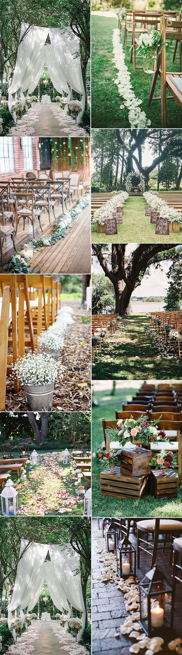 top wedding aisle decoration ideas