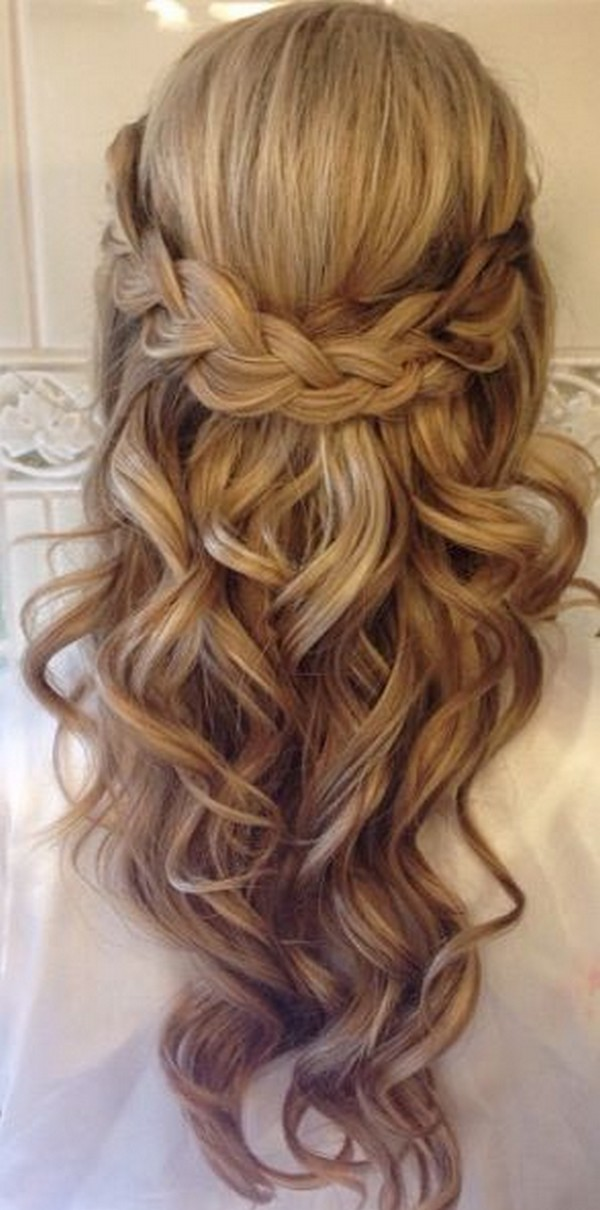 twisted wedding hairstyles half up half down