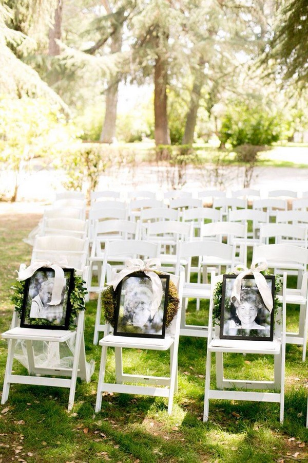 Deceased Loved Ones photos wedding ideas