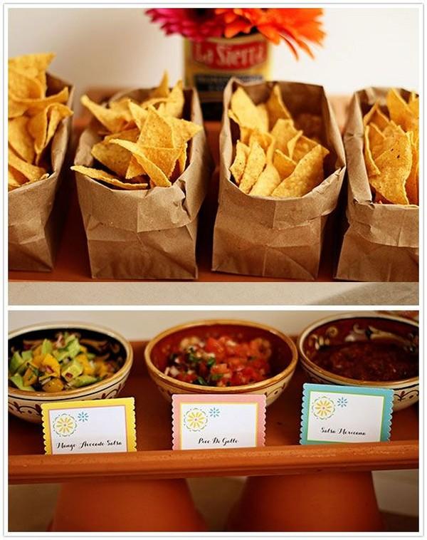 Mexican Fiesta Taco wedding food station ideas