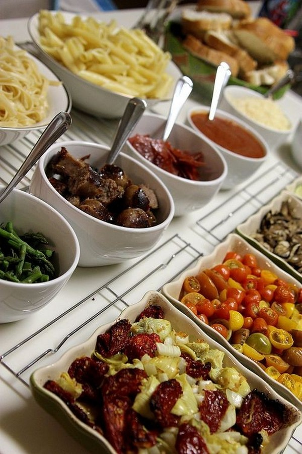 Wedding Pasta Bar food ideas
