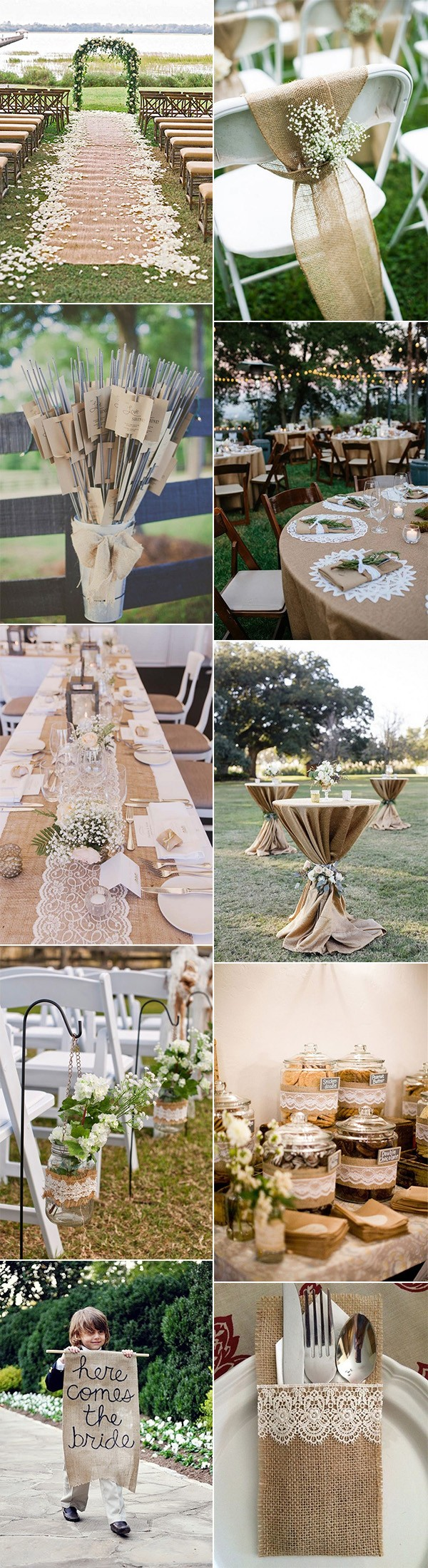 15 Rustic Lace and Burlap Wedding Ideas to Love - EmmaLovesWeddings