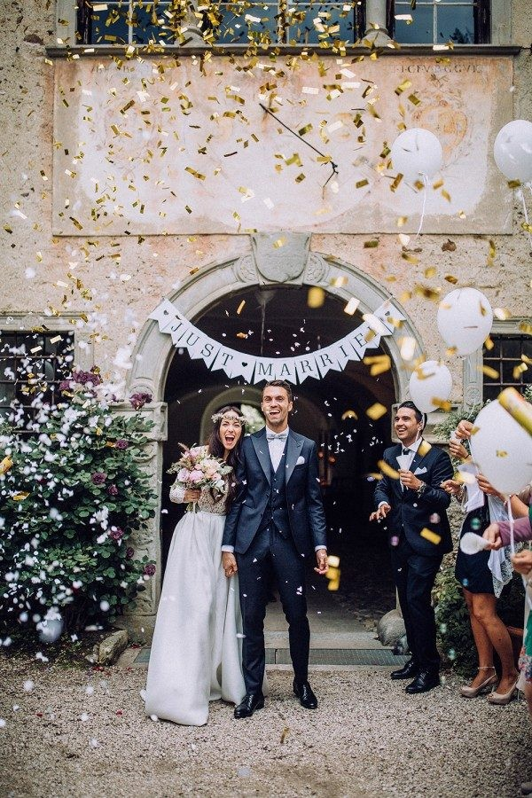 confetti wedding exit send off ideas - EmmaLovesWeddings