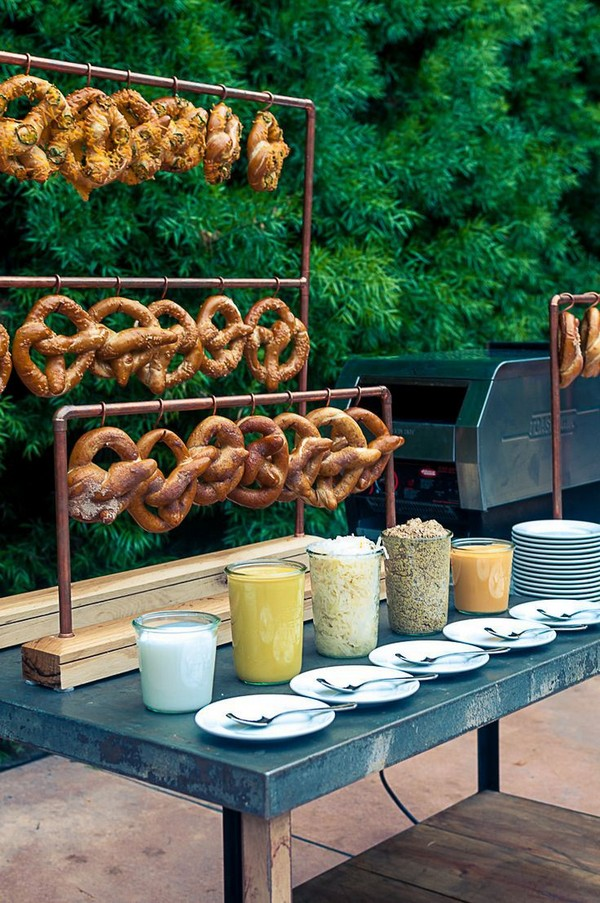 country outdoor wedding food bar ideas - EmmaLovesWeddings