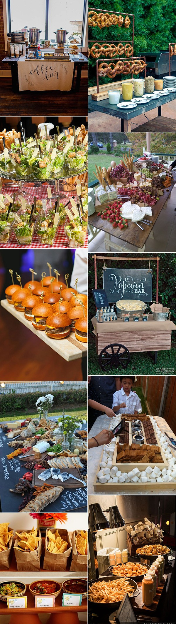 country rustic great wedding food station buffet ideas