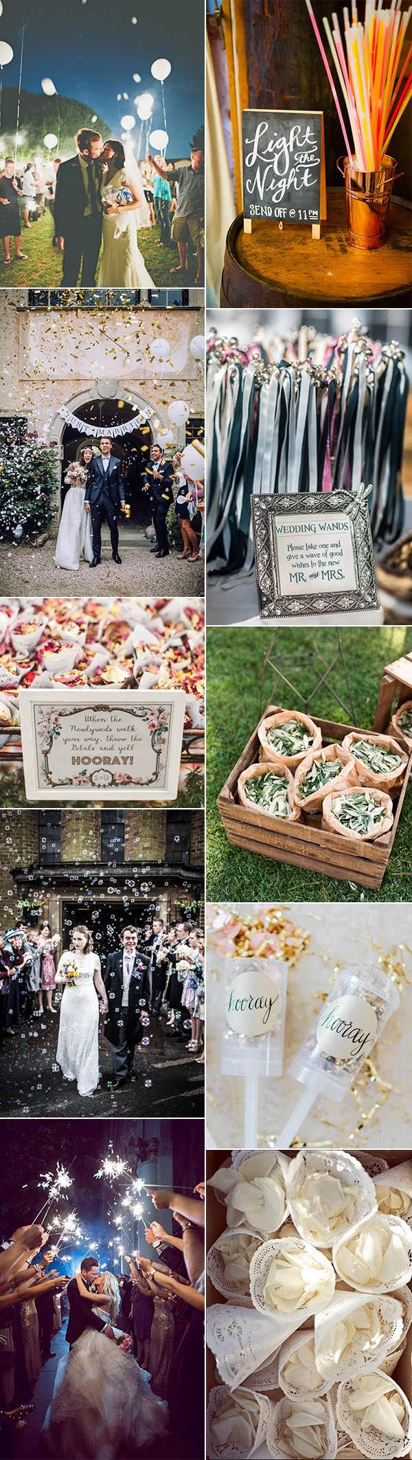 creative wedding exit send off ideas