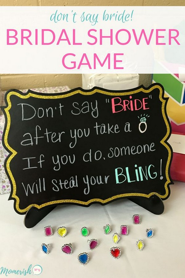 don't say bride game for bridal shower