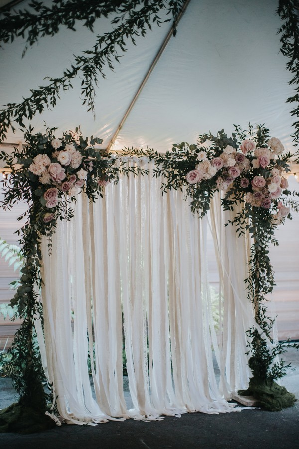 elegant ethereal wedding ceremony arch ideas