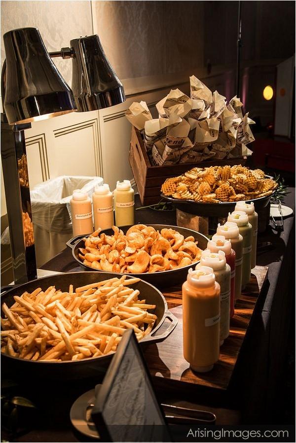 french fry wedding food station idea