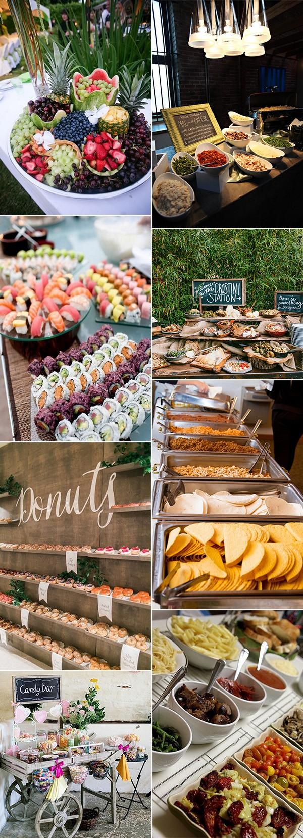 great wedding food bar ideas