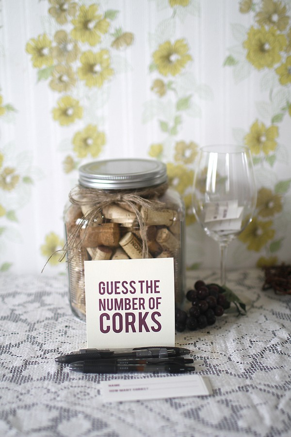 guess the corks bridal shower game ideas