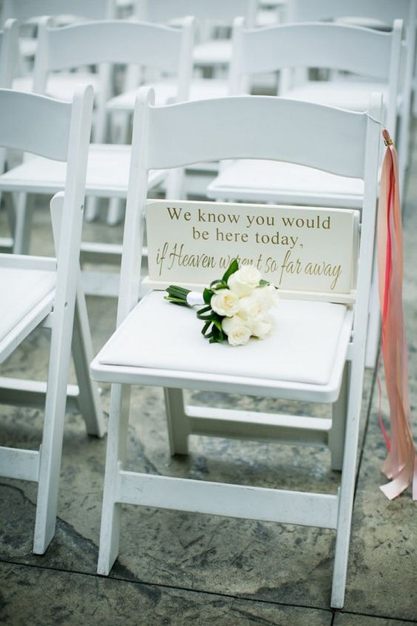 honor deceased loved ones wedding ideas