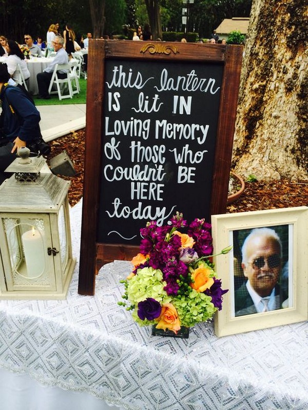 honor deceased loved ones wedding sign ideas