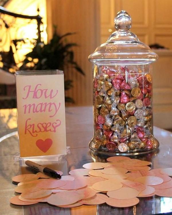 how many kisses bridal shower game