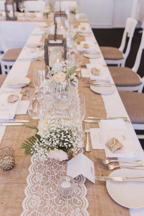 15 rustic lace and burlap wedding ideas to love page 2