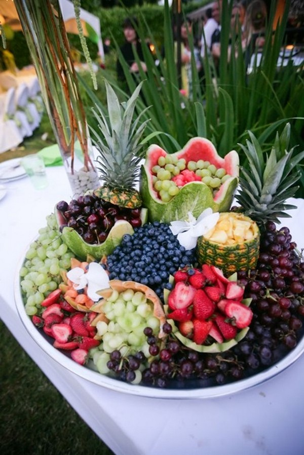 20 great wedding food station ideas for your reception for Food bar wedding reception