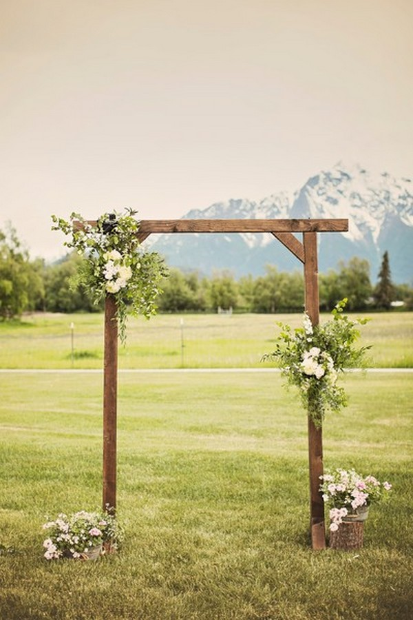 simple rustic wedding arch ideas