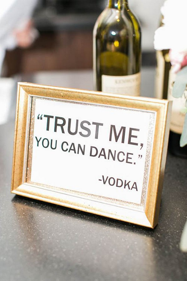 trust me you can dance wedding sign ideas
