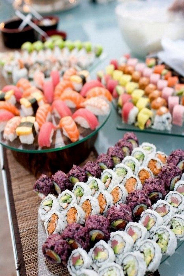 sushi wedding food bar ideas