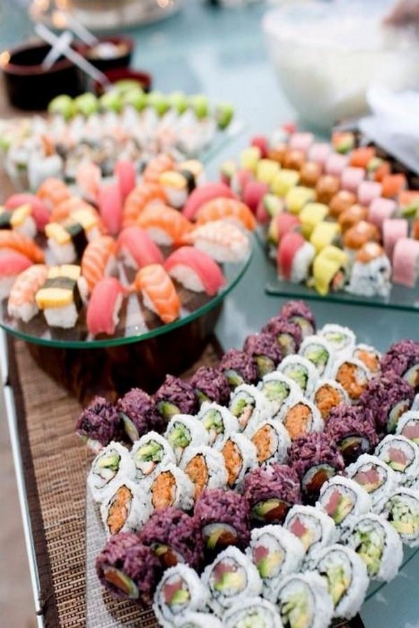 sushi wedding food bar ideas