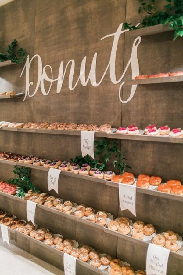 Sweet Donuts Wedding Food Bar Ideas