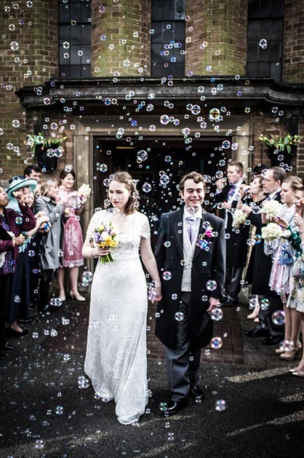 unique bubbles wedding exit ideas