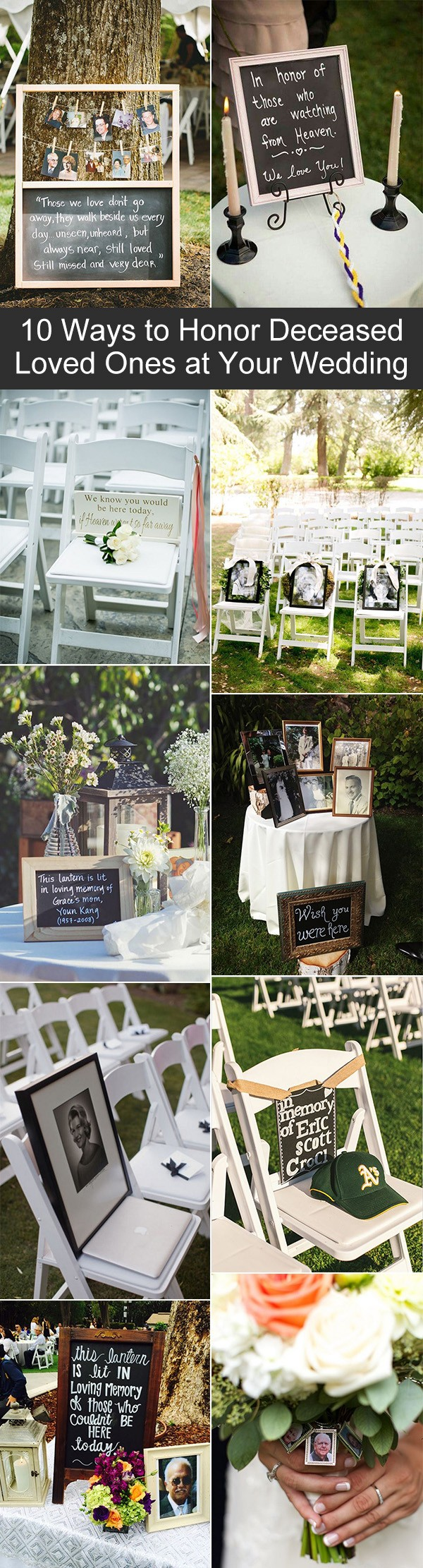unique ways to honor deceased loved ones at your wedding