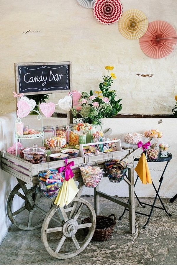 wedding candy bar decoration ideas