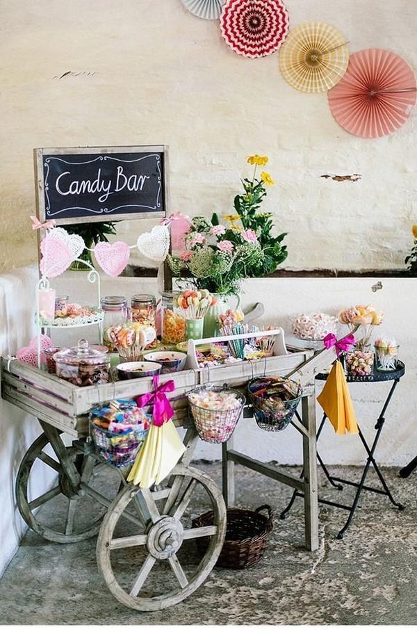 wedding candy bar decoration ideas