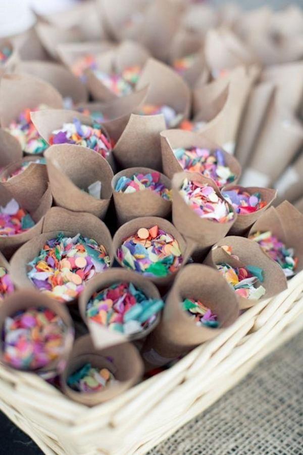 wedding exit ideas with confetti