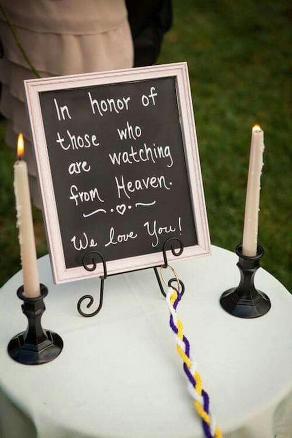 wedding ideas to honor deceased loved ones