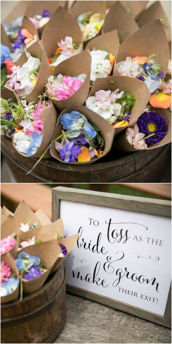 wildflowers toss wedding exit send off ideas