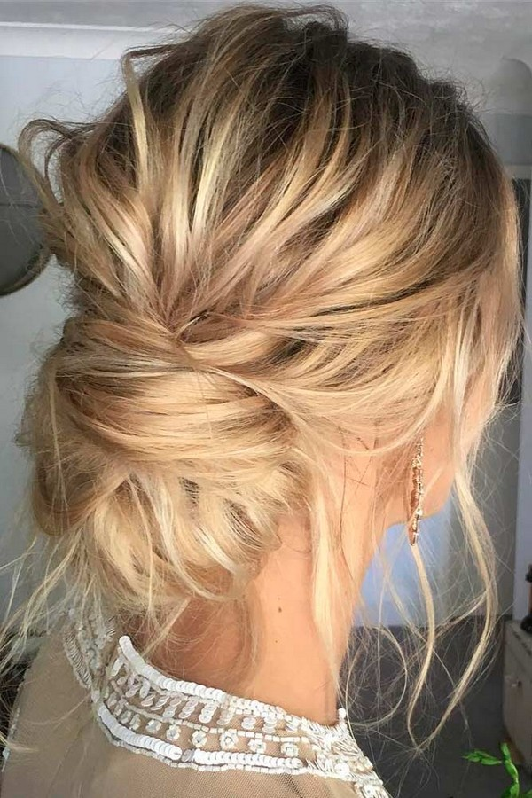 Trendy Updo Wedding Hairstyles for Medium Length Hair