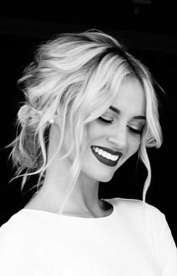awesome Tender Updos Bridal Hairstyles for Medium Length Hair