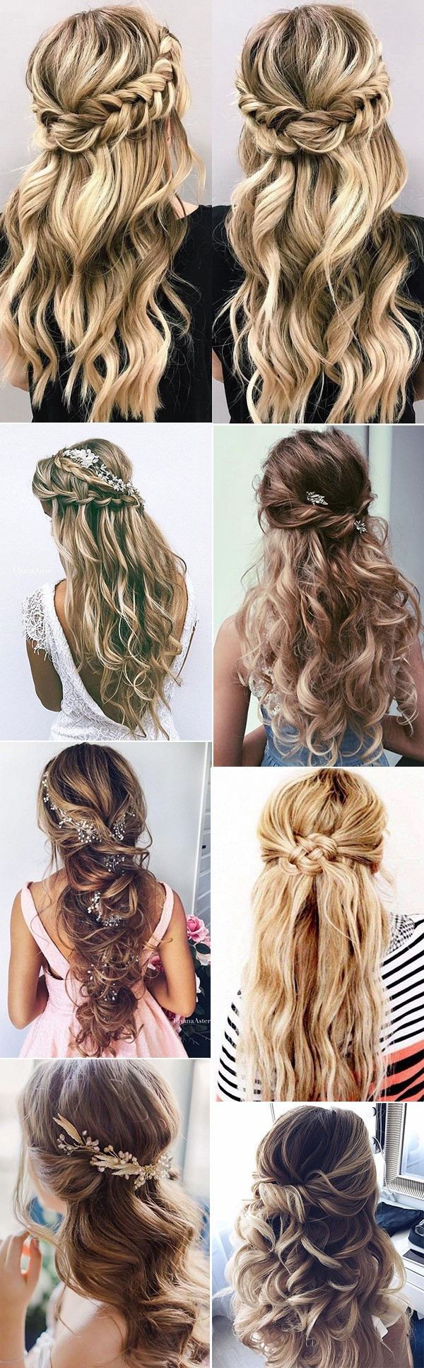 15 chic half up half down wedding hairstyles for long hair chic half up half down wedding hairstyles ideas junglespirit Images