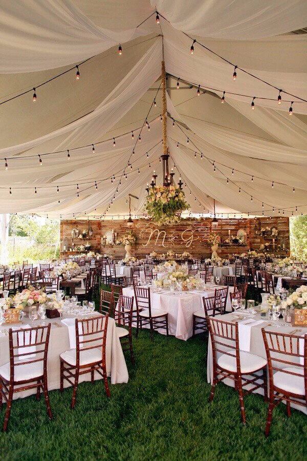 Chic Rustic Outdoor Tented Wedding Reception Ideas Emmalovesweddings