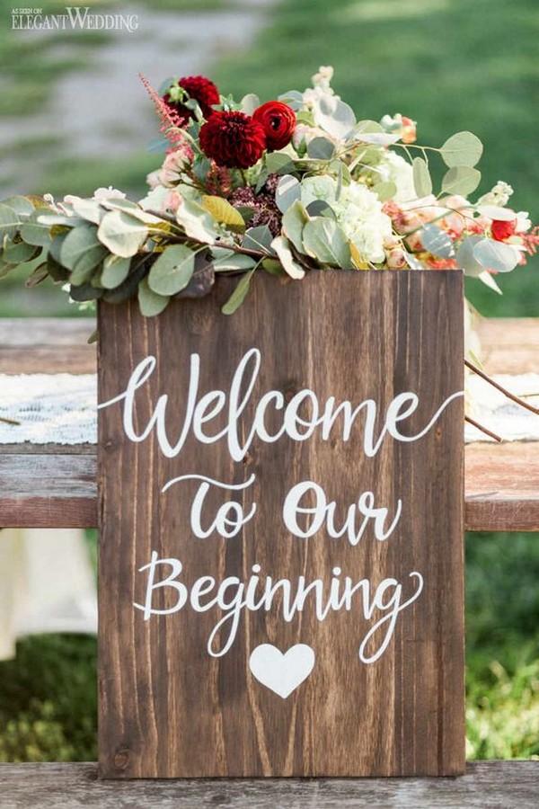 Chic Rustic Wedding Signs