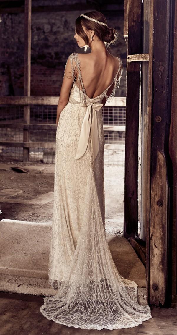 Chloe Anna Campbell Vintage Old Hollywood Wedding Dress 2018