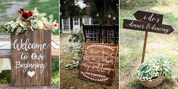 Wedding Venues What You Need For A Large Wedding: 15 Cute Wedding Signs You Need For The Big Day