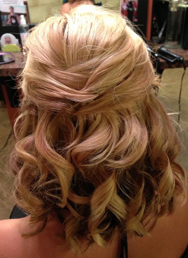 half up half down medium length wedding hairstyles
