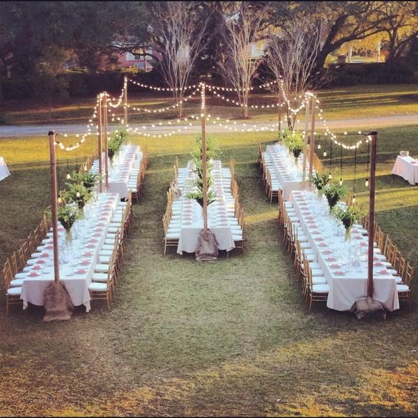 outdoor wedding reception ideas for small weddings