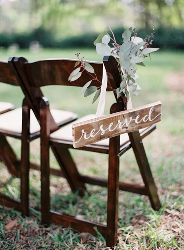 reserved wedding sign for ceremony