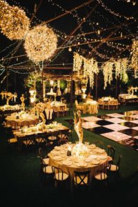 Outdoor Backyard Wedding Reception Ideas With String Lights