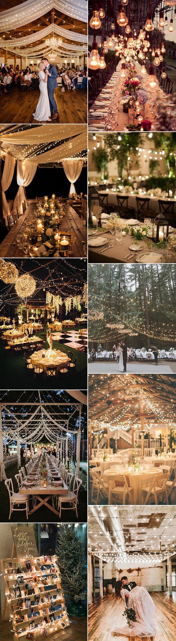 romantic wedding reception decoration ideas with lights